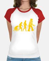 Tee shirt femme, style baseball