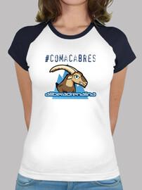 Tee shirt femme, style baseball, blanc et bleu royal