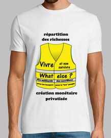 tee shirt gilets jaunes homme inégalités richesses