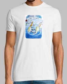 Tee shirt Grand Prix de La baie de Saint-Brieuchomme, blanc, qualité supérieure