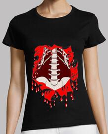 tee shirt Halloween femme zombie squelette