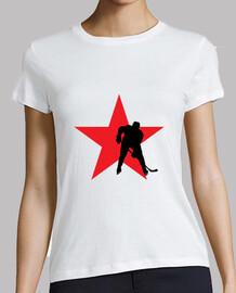 Tee shirt Hockey femme, blanc, qualité supérieure