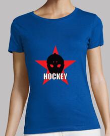 Tee shirt Hockey femme, gris obscur, qualité supérieure