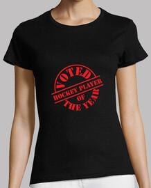 Tee shirt Hockey femme, noir, qualité supérieure