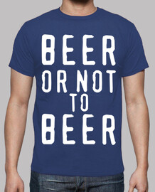 Tee shirt homme, beer or not to beer