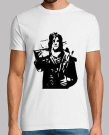 Tee shirt homme, blanc, Daryl dixon