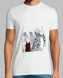 Tee shirt homme, blanc, qualité supérieure