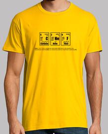 Tee shirt homme, jaune moutarde, qualité supérieure