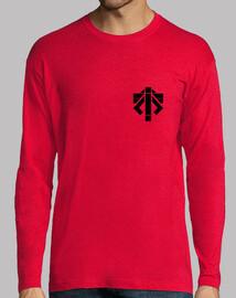 Tee shirt homme, manche longue, rouge