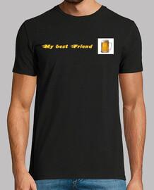 Tee shirt homme, noir, qualité supérieure Biere meilleure amie