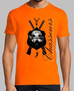 Tee shirt homme, orange, qualité supérieure