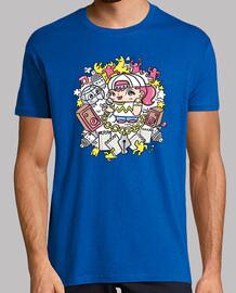 Tee shirt homme, rose, qualité supérieure