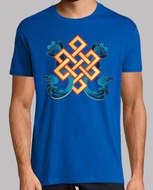"""Tee shirt homme, rose, qualité supérieure """"Bonne augure"""""""