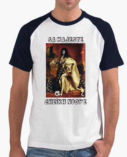 Tee-shirt Tee shirt homme, style baseball, blanc et bleu marine