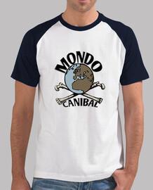 Tee shirt homme, style baseball, blanc et bleu marine