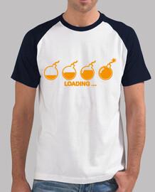 Tee shirt homme, style baseball, blanc et bleu royal