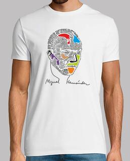 Tee shirt homme, style rétro, blanc et lilas