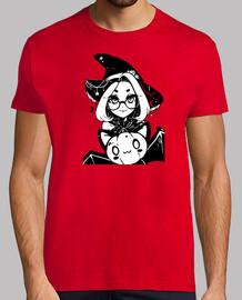 Tee shirt homme, style rétro, rouge et blanc
