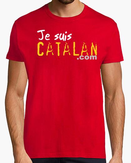 Tee-shirt Tee shirt homme, style rétro, rouge et blanc