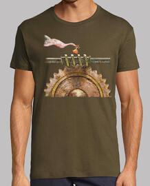 Tee shirt homme, vert militaire, qualité supérieure