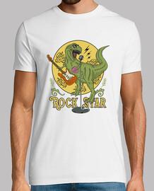 tee shirt humour dinosaure rock star t-rex