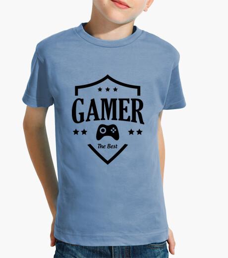 Kinderbekleidung tee shirt kind gamer - spiel - aussenseiter