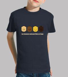 tee shirt libre et lego enfant