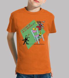 tee shirt manches enfantin de la hauteur de coupe me donne l'avantage - personnalisable!