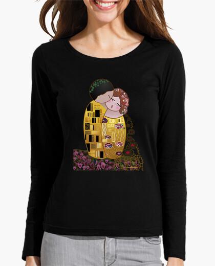 Tee-shirt Tee shirt manches longues Kokeshi Le baiser de Klimt