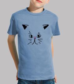 Tee shirt motif chat mignon