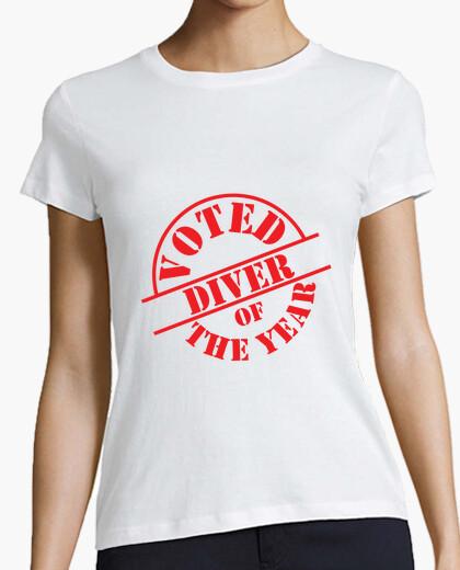 Tee-shirt Tee shirt Plongée femme, blanc, qualité supérieure