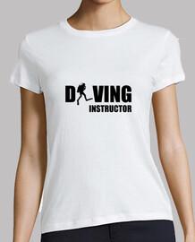 Tee shirt Plongée femme, blanc, qualité supérieure