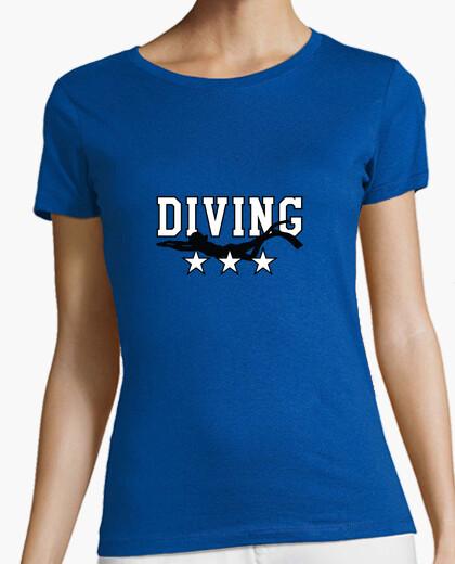 Tee-shirt Tee shirt Plongée femme, bleu ciel, qualité supérieure