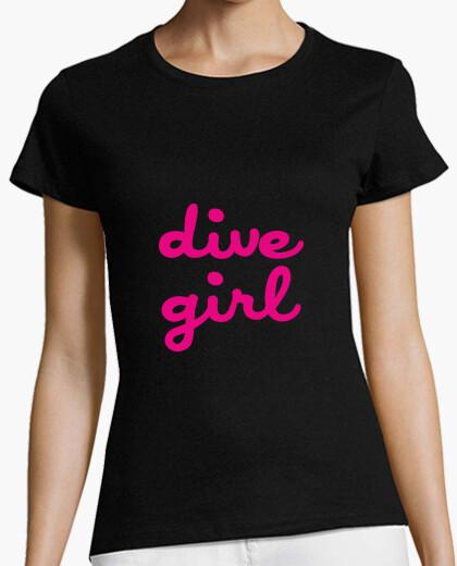 Tee-shirt Tee shirt Plongée femme, noir, qualité supérieure
