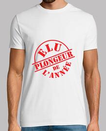 Tee shirt Plongée homme, blanc, qualité supérieure