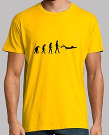Tee shirt Plongée homme, jaune moutarde