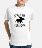 tostadora Tee Shirt Je Peux Pas Jai Cheval Femme