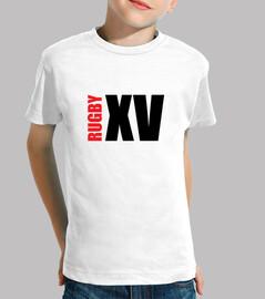 Tee shirt Rugby enfant, manche courte, blanc