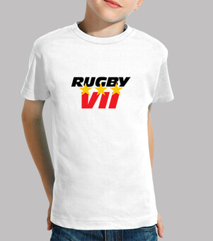 Tee shirt Rugby enfant, manche courte, blanc
