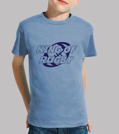Tee shirt Rugby enfant, manche courte, céleste