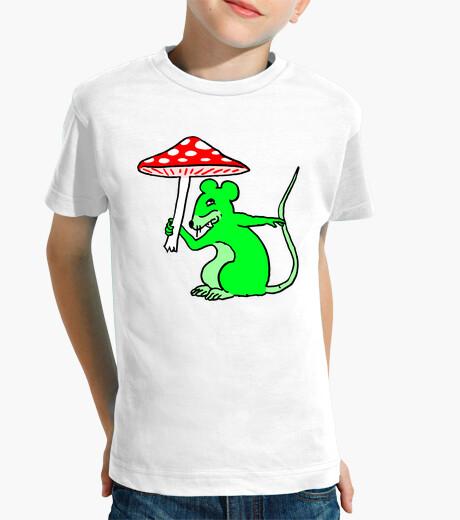 Vêtements enfant Tee Shirt Souris Verte au Champignon