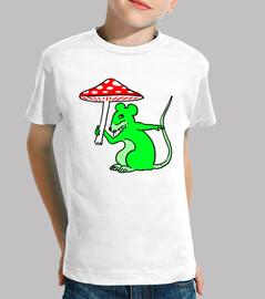 Tee Shirt Souris Verte au Champignon