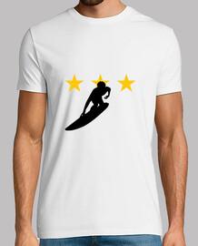 Tee shirt Surf homme, blanc, qualité supérieure