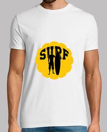 Tee shirt Surf Plongée homme, blanc, qualité supérieure