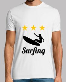 Tee shirt Surfhomme, blanc, qualité supérieure