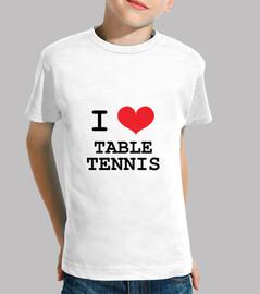 tee shirt tabella figlio pong, manica corta, bianco