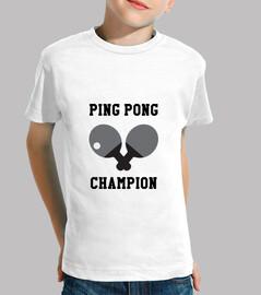 Tee shirt Tennis de table enfant, manche courte, blanc