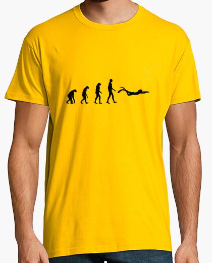 T-shirt tee shirt uomo di immersione, giallo senape