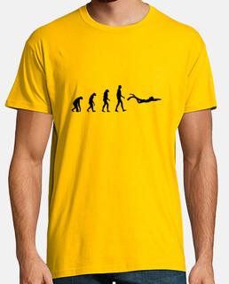 tee shirt uomo di immersione, giallo senape