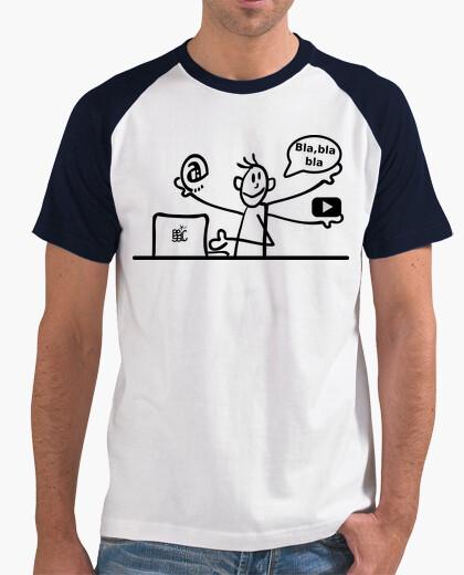 Telecommuting man t-shirt